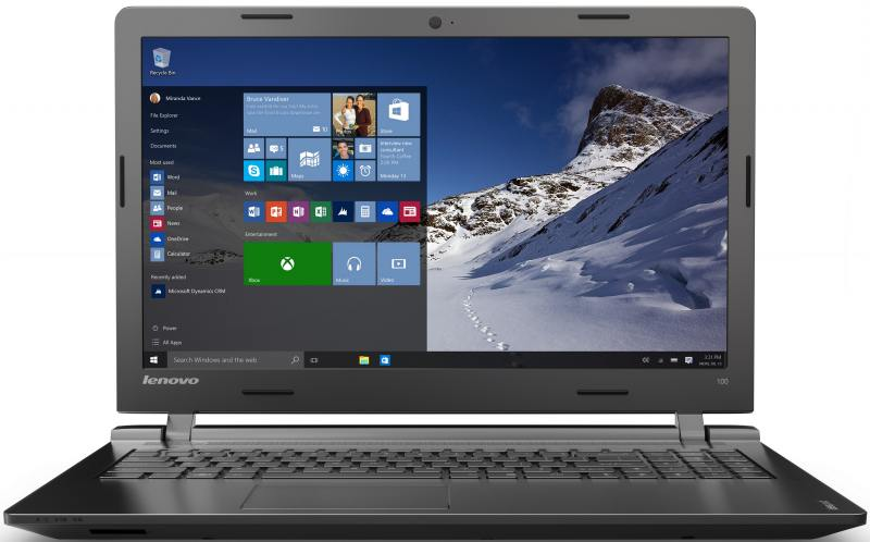 Ноутбук Lenovo IdeaPad 100-15IBY (80MJ009VRK) Celeron N2840/2GB/500GB/15.6 1366x768/Intel HD Graphics/DVD нет/BT/DOS Black lenovo ideapad 100 15iby black 80mj00e2rk