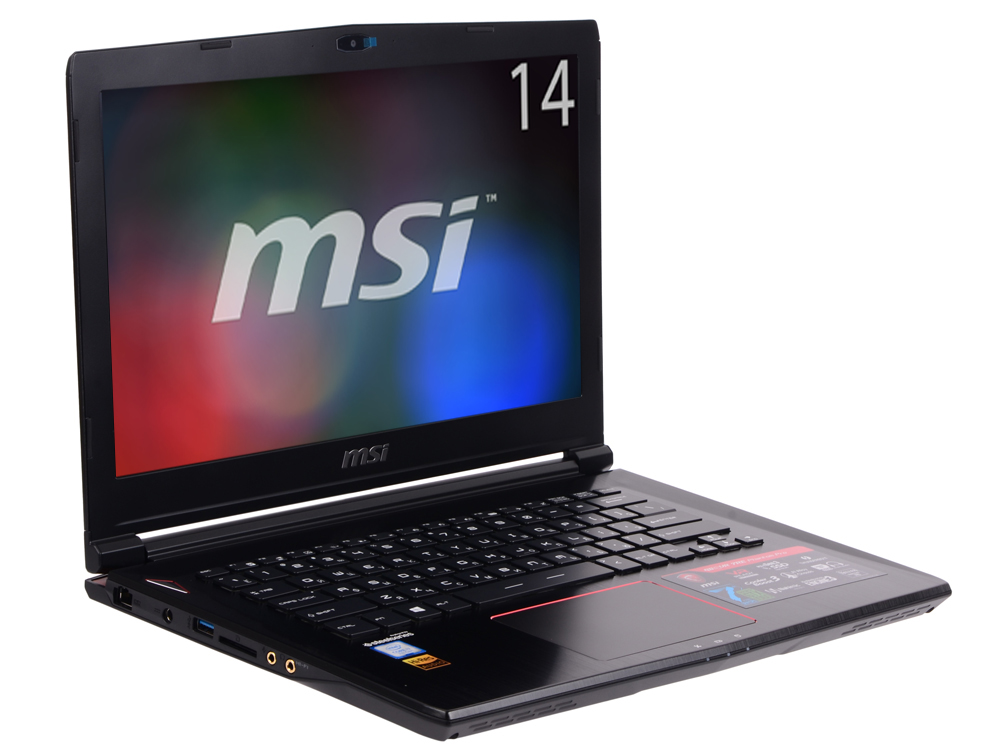 GS43VR 7RE(Phantom Pro)-201RU ноутбук msi phantom pro 094ru gs43vr 7re core i5 7300hq 2 5ghz 14 16gb 1tb gtx1060 w10h64 9s7 14a332 094