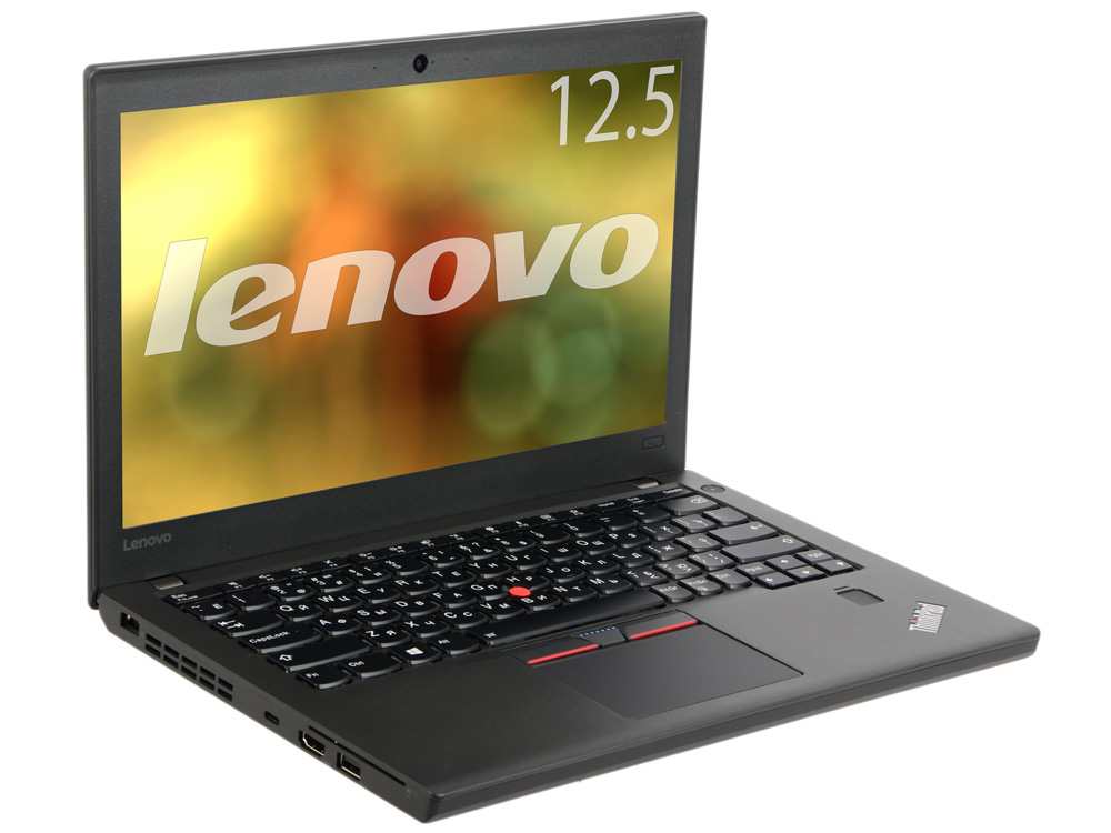 Ноутбук Lenovo ThinkPad X270 (20HN0065RT) Core i3-7100U(2.4)/4Gb/180GB SSD/12.5 1920x1080/Int: Intel HD620/noODD/Win10 Pro Black