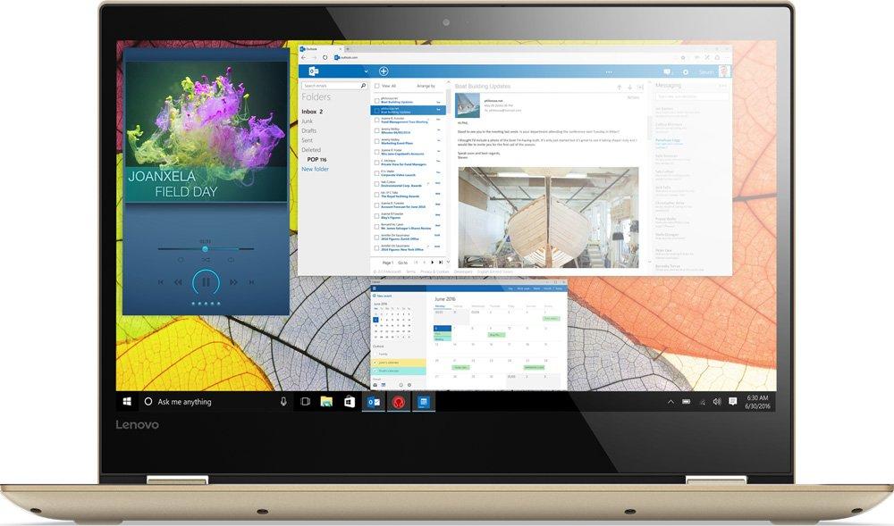 Ноутбук Lenovo IdeaPad Yoga 520-14IKB (80X8001YRK) i7-7500U (2.7) / 8Gb / 1Tb+128Gb SSD / 14 FHD / GeForce 940MX 2Gb / Win 10 / Gold ботильоны quelle quelle 955651