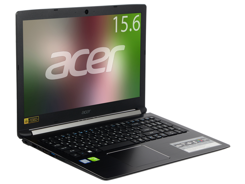 Ноутбук Acer Aspire A515-51G-594W NX.GP5ER.006 Core i5 7200U (2.5) / 6Gb / 1Tb / 15.6 FHD / GeForce GT 940MX 2Gb / Win 10 / Black ноутбук dell vostro 5468 core i5 7200u 4gb 1tb nv 940mx 2gb 14 0 win10 grey