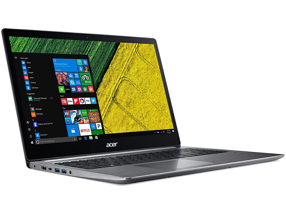 Ноутбук Acer Aspire Swift SF315-51-55TM (NX.GQ5ER.004) i5-7200U (2.5)/8GB/256GB SSD/15.6 1920x1080/Int: Intel HD 620/DVD нет/WiFi+BT/Win10 Silver ноутбук acer aspire f5 573g 509x nx gfjer 004 nx gfjer 004