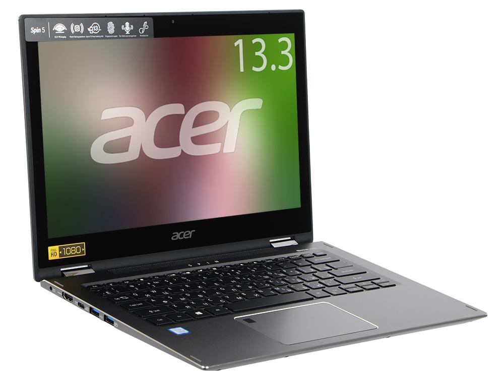 Ноутбук Acer Aspire Spin SP513-52N-58QS (NX.GR7ER.001) i5-8250U (1.6)/8GB/256GB SSD/13.3 1920x1080/intel UHD 620/WiFi/BT/noDVD/Cam/Win10 Black nokotion nby1111001 q5wvh la 7912p laptop motherboard for acer v3 571 intel integrated ddr3 nb y1111 001 free shipping