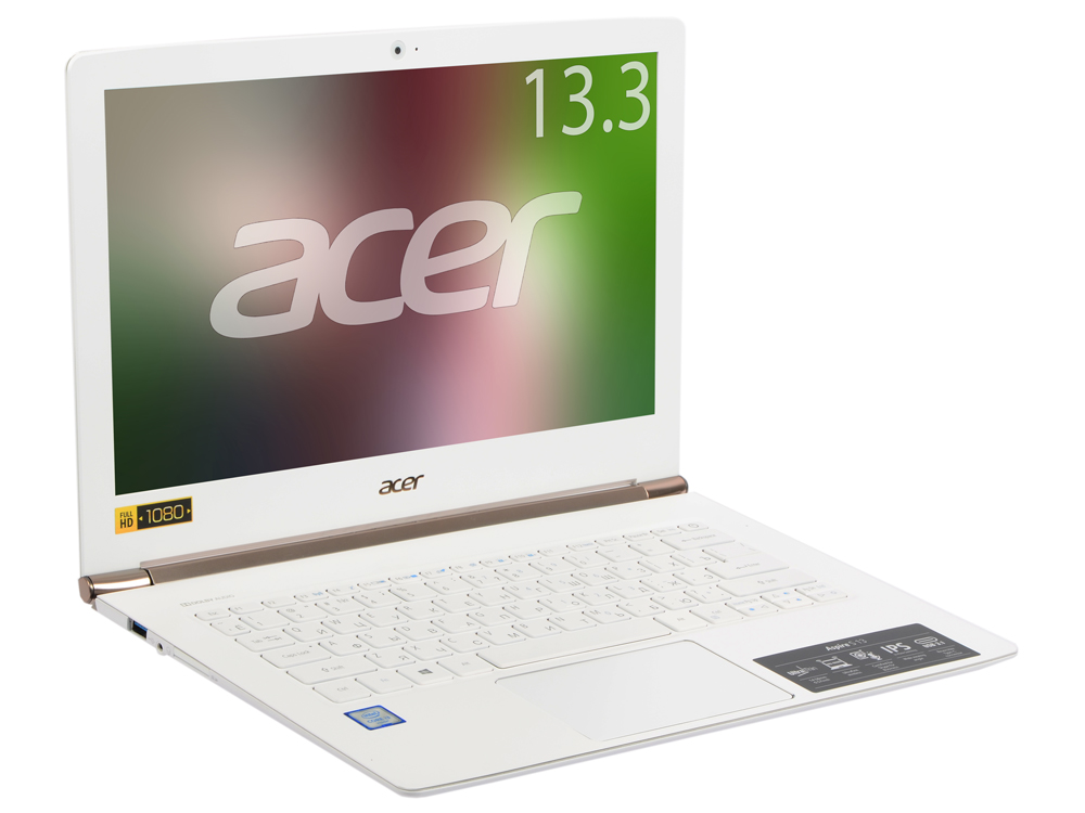 Ноутбук Acer Aspire S5-371-356Y (NX.GCJER.009) i3-6100U(2.3)/4GB/128GB SSD/13.3FHD/Intel HD 520/Wi-fi/BT/Win 10 Home/White ноутбук acer s5 371 nx gcjer 009 nx gcjer 009