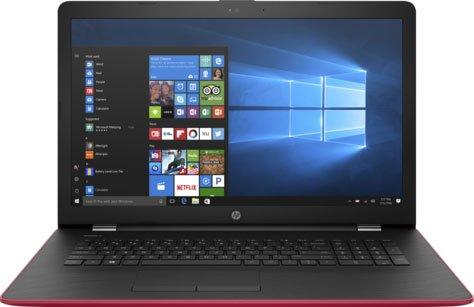 Ноутбук HP17-bs022ur (2CP75EA#ACB) Pentium N3710(1.6)/4Gb/1Tb/17.3(1600x900)/DVDrw/Radeon 520 2GB/BT/WiFi/Win 10/Empress Red ноутбук asus x751sj ty017t pentium n3700 1 6ghz 17 3 4gb 500gb dvdrw gt920m 1gb w10 black 90nb07s1 m00860