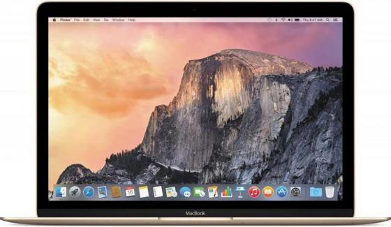 Ноутбук Apple MacBook 12 (MNYK2RU/A) Core M3-7Y32 (1.1)/8GB/256GB SSD/12 2304x1440/Intel HD Graphics 615/DVD нет/Bluetooth/macOS Gold ноутбук apple macbook 2017 gold mnyk2ru a