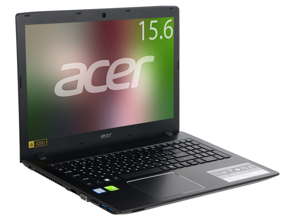 Ноутбук Acer Aspire E5-576G-56MD (NX.GTZER.040) i5-7200U (2.5)/6GB/1TB/15.6 FHD AG/NV GT940MX 2Gb/noODD/BT/Win10 (Black) e5 576g 521g