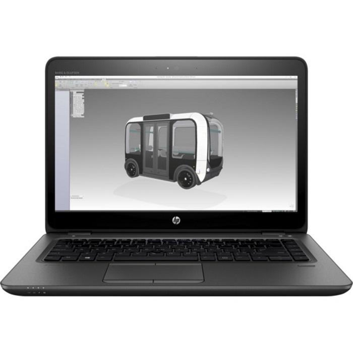Ноутбук HP ZBook 14U G4 (1RQ82EA) i7-7500U (2.7)/8G/256G SSD/14 FHD AG/AMD FirePro W4190M 2G/noODD/BT/Win10Pro Black, Metal ноутбук hp zbook 15u g4 y6k02ea core i7 7500u 16gb 512gb ssd 15 6 fullhd win10pro