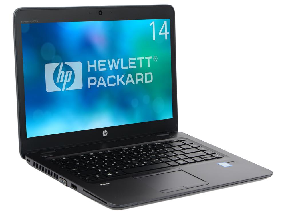 Ноутбук HP ZBook 14U G4 (1RQ82EA) i7-7500U (2.7)/8G/256G SSD/14 FHD AG/AMD FirePro W4190M 2G/noODD/BT/Win10Pro Black, Metal
