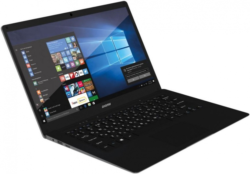 Ноутбук Digma EVE 1402 (ET4014EW) Atom X5 Z8350 (1.44)/4G/32G SSD/14.1 HD/Int:Intel HD 400/BT/Win10 Black/Silver silver eve got 2