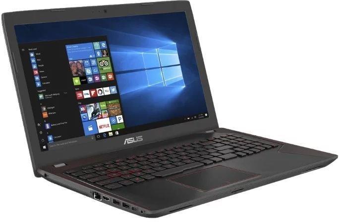 Ноутбук Asus FX553VD-E41200 (90NB0DW4-M19310) i5-7300HQ (2.5) / 8Gb / 1Tb / 15.6 FHD / GeForce GTX1050 2Gb / Endless / Black ноутбук asus a450ld4210 554gsc52x20 i5