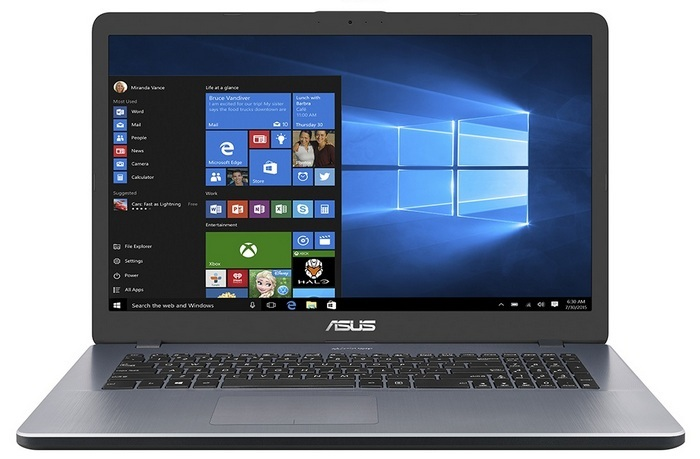Ноутбук ASUS A705UQ-BX200T (90NB0EY2-M02380) i7-8550U (1.8) / 8Gb / 1Tb / 17.3 HD+ TN / GeForce 940MX 2Gb / Win 10 Home / Grey x93s k93sm x93sm for asus laptop motherboard pbl80 la 7441p mainboard rev 2 0 gt540m 2gb 100% tested