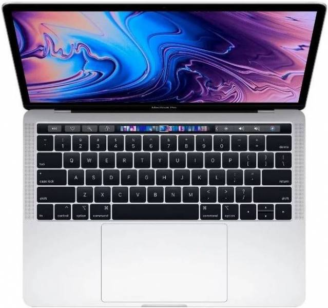 Ноутбук Apple MacBook Pro (MR9U2RU/A) 13 Retina D-C IC i5 2.3GHz/Touch Bar/8GB/256GB SSD/Int Iris Plus 655/Silver ноутбук apple macbook pro 13 retina 2017 silver 2300 мгц 8 гб 0 гб