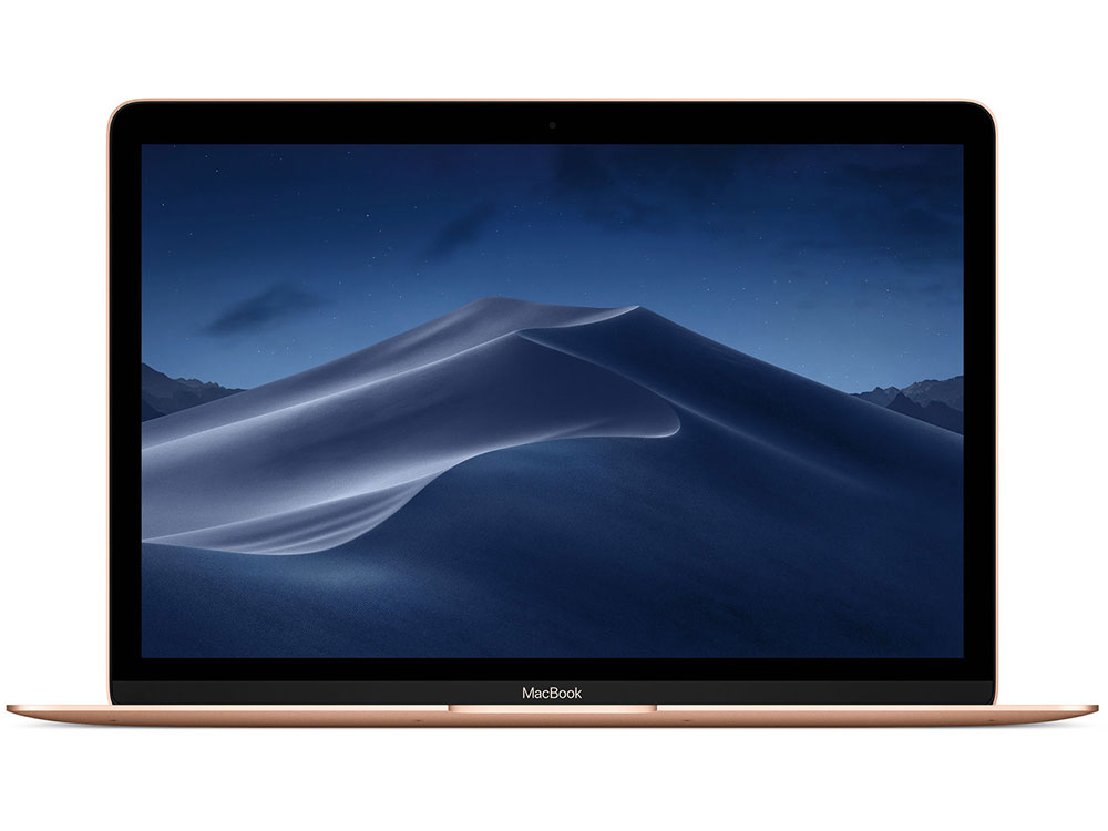 Ноутбук Apple MacBook MRQN2RU/A (Late 2018) m3-8100Y (1.2) / 8GB / 256GB SSD / 12 2304x1440 / Intel HD Graphics 615 / macOS / Gold ноутбук apple macbook 12 2304x1440 intel core m3 256 gb 8gb intel hd graphics 515 розовый mac os x mmgl2ru a