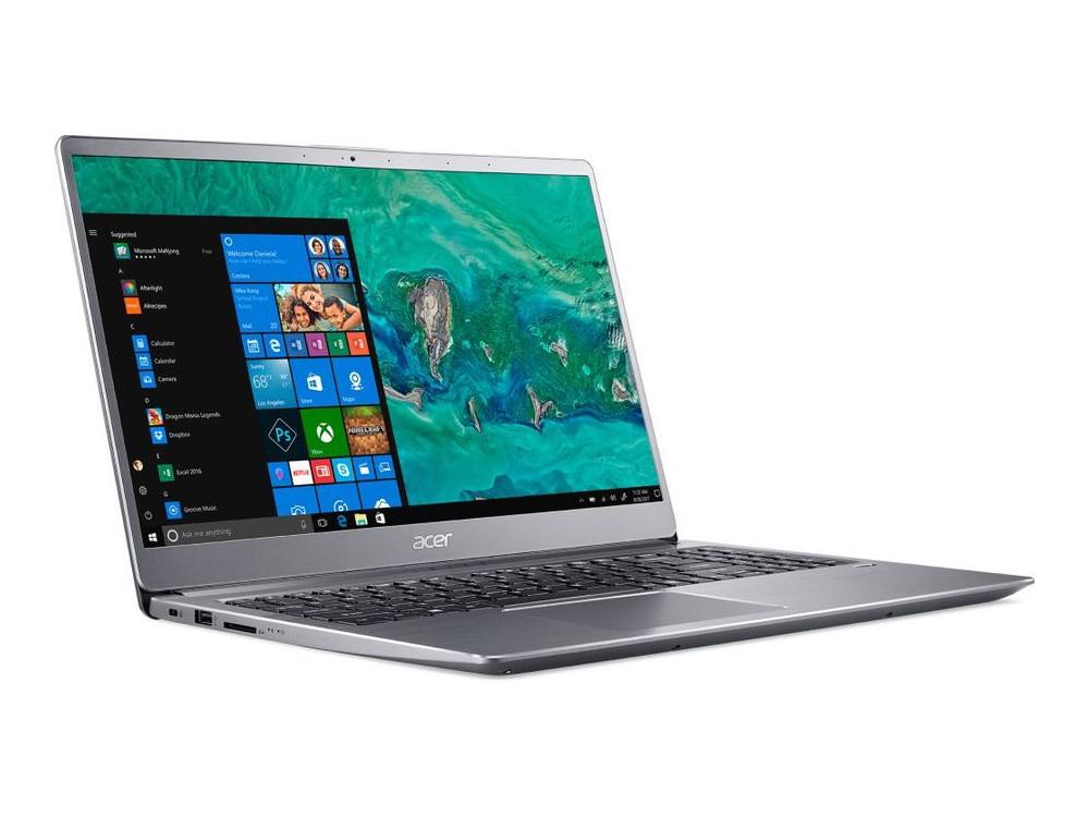 Ноутбук Acer Swift 3 SF315-52G-84XV (NX.H39ER.001) i7-8550U (1.8) / 16GB / 1TB + 256GB SSD / 15.6 UHD IPS / NV GF MX150 2GB / Linux (Silver) ультрабук acer swift 3 sf315 52g 52b4 nx gzcer 002