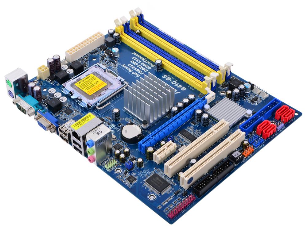 Материнская плата ASRock G41C-GS (S775, iG41, 2*DDR2, 2*DDR3, PCI-E16x, SVGA, SATA II, IDE, FDD, GB Lan, mATX, Retail)