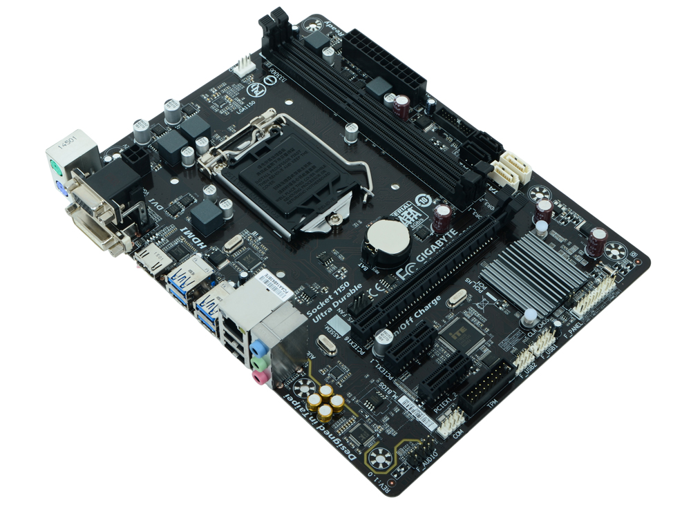 Материнская плата GIGABYTE GA-H81M-S2H (S1150, iH81, 2*DDR3, PCI-E16x, 2*PCI-e x1, D-Sub, HDMI, DVI, SATA III, GB Lan, mATX, Retail)