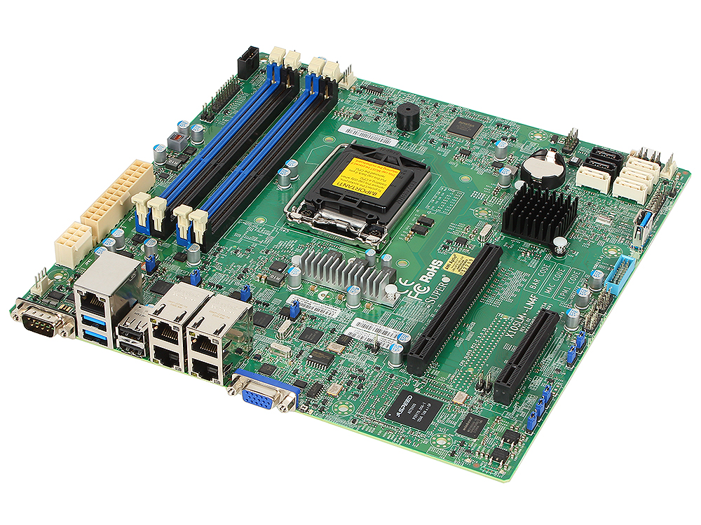 MBD-X10SLM+-LN4F-O материнская плата сервера supermicro mbd x10slm f o mbd x10slm f o