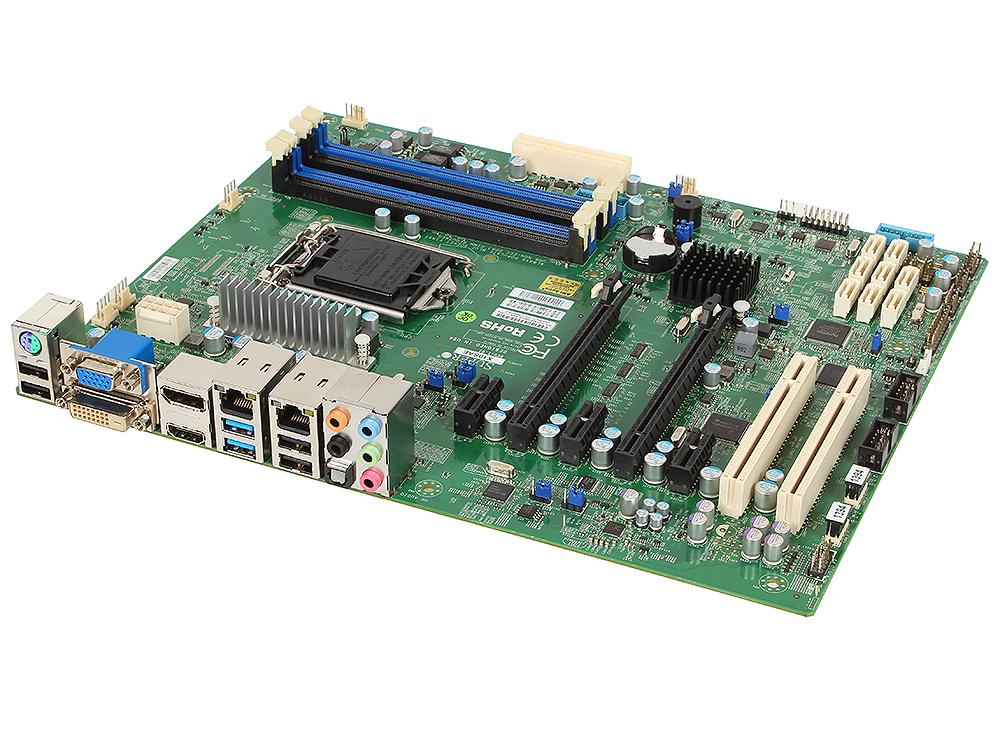 Материнская плата Supermicro MBD-X10SAE-O 1xLGA1150, C226, Xeon E3-1200 v3, Core i7/i5/i3, ATX, 4xDIMM (up to 32GB ECC/non-ECC), 2x PCI-E 3.0 x16, 3x PCI-E 2.0 x1, 2x PCI msi original zh77a g43 motherboard ddr3 lga 1155 for i3 i5 i7 cpu 32gb usb3 0 sata3 h77 motherboard
