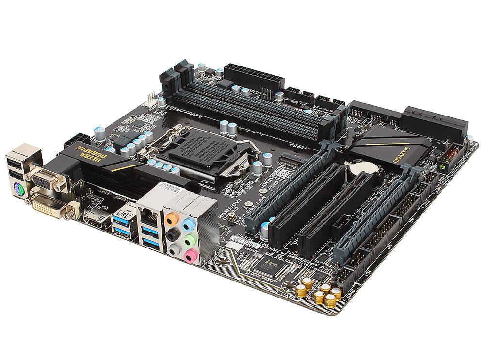 Материнская плата GIGABYTE GA-H170M-D3H DDR3 (S1151, iH170, 4*DDR3, 2*PCI-E16x, D-SUB, HDMI, DVI, SATA III+RAID, GB Lan, USB3.0, mATX, Retail)