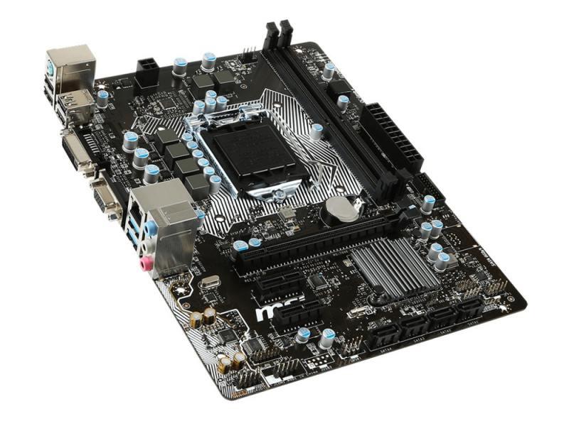 Материнская плата MSI H110M PRO-VD <S1151, H110, 2*DDR4, PCI-E16x, D-SUB, DVI, SATA III, GB Lan, USB3.0, mATX, Retail>