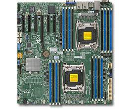 Материнская плата Supermicro MBD-X10DRH-IT-O 2 х Socket 2011-3 C612 16xDDR4 1xPCI-E 16x 6xPCI-E 8x 1