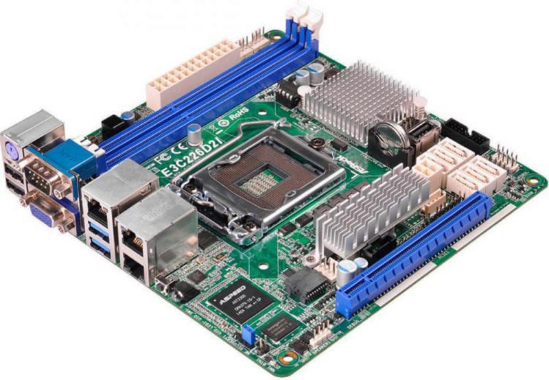 Материнская плата ASRock E3C226D2I Socket 1150 Intel C226 1xPCI 3xPCI-E 1x 6xSATA II 6xSATAIII mini-