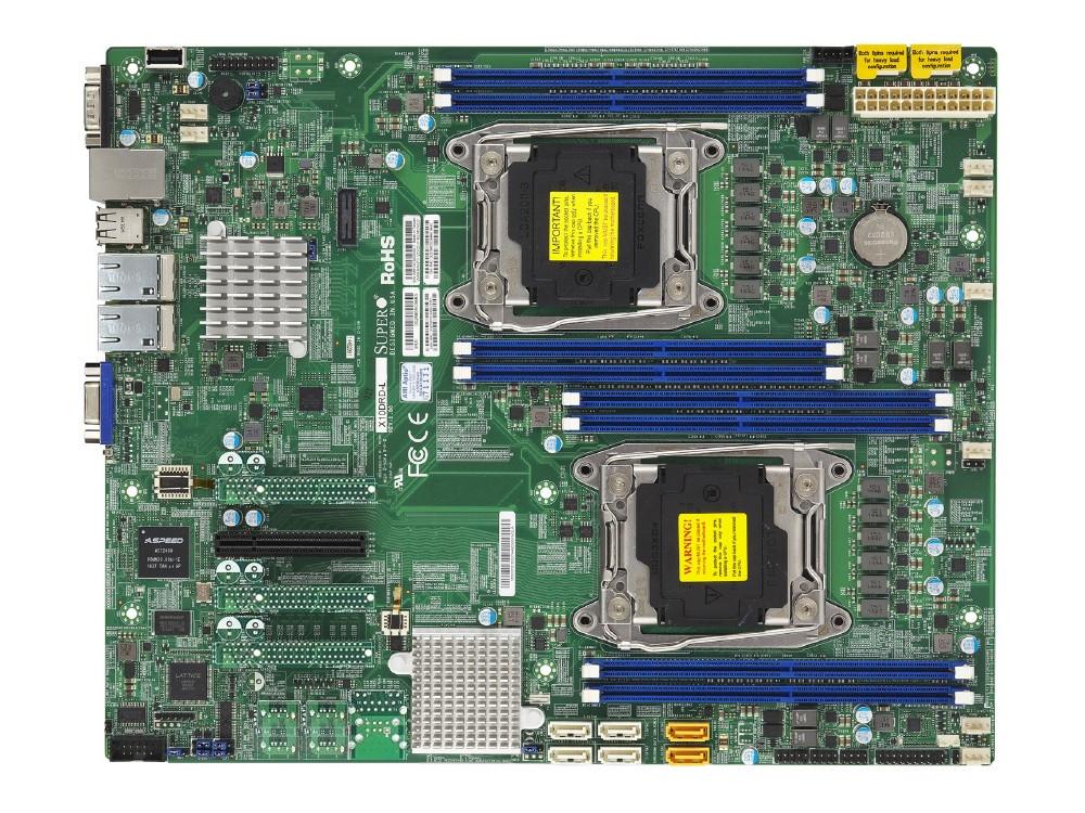 Материнская плата Supermicro MBD-X10DRD-L-O 2 х Socket 2011-3 C612 8xDDR4 1xPCI-E 8x 6xSATAIII EATX материнская плата supermicro mbd x10drw it o socket 2011 3 c612 16xddr4 1xpci e 16x 10xsataiii eatx