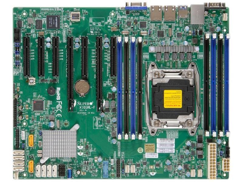 Материнская плата Supermicro X10SRL-F Socket 2011-3 C612 8xDDR4 — — — 10xSATAIII ATX Retail MBD-X10S материнская плата supermicro mbd x10srl f b socket 2011 3 c612 8xddr4 3xpci e 4x 4xpci e 8x 10xsataiii atx oem