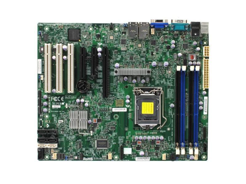 Материнская плата Supermicro MBD-X9SCE-F-B Socket 1155 C204 4xDDR3 1xPCI-E 16x — — — 4xSATA II 2xSAT