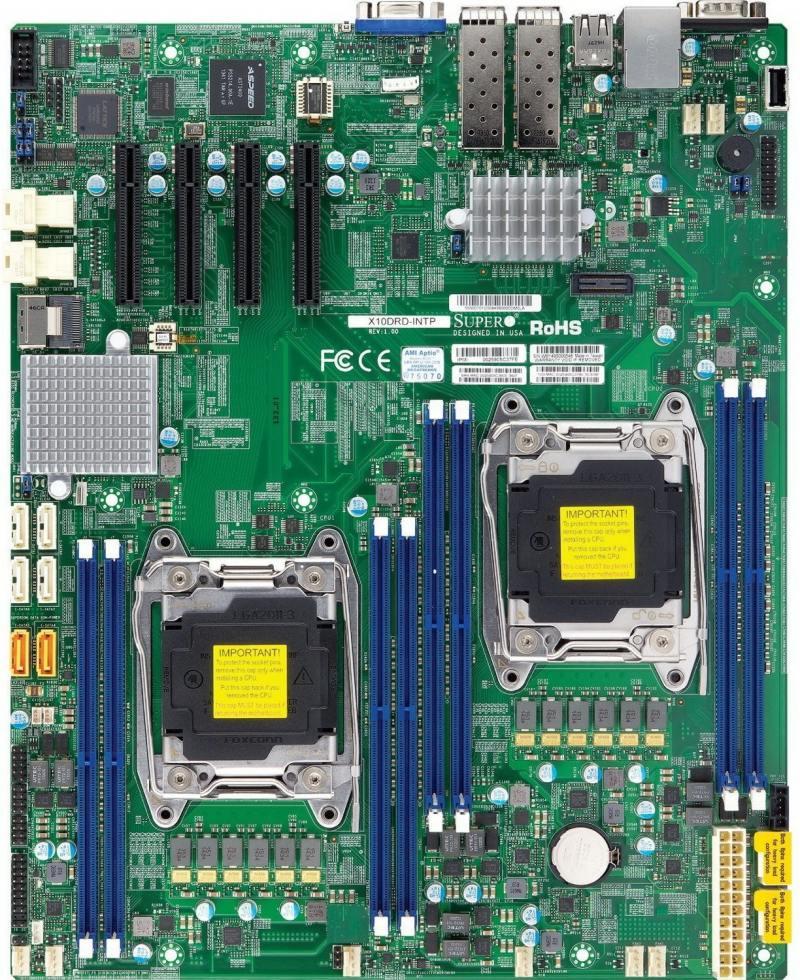 Материнская плата Supermicro MBD-X10DRD-I-B Socket 2011-3 C612 8xDDR4 4xPCI-E 8x 10xSATAIII EATX материнская плата supermicro mbd x10srl f b socket 2011 3 c612 8xddr4 3xpci e 4x 4xpci e 8x 10xsataiii atx oem