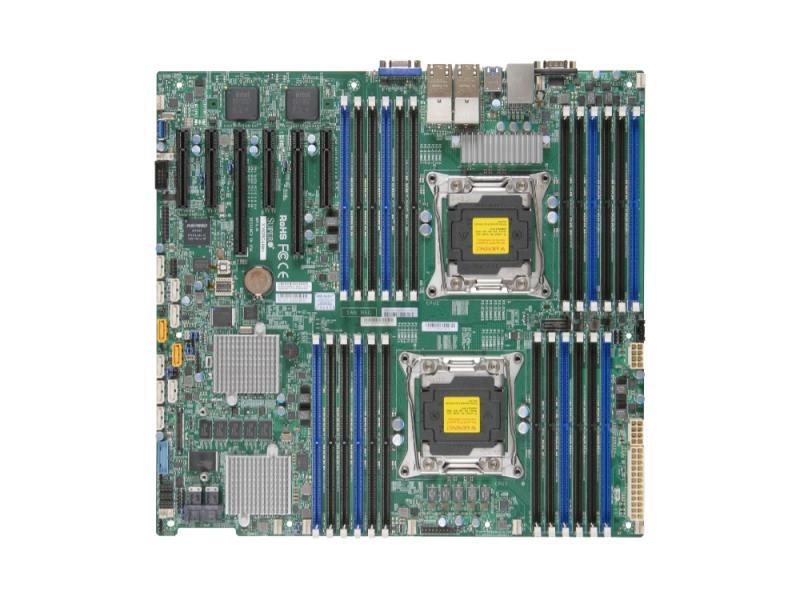 Мат плата Supermicro MBD-X10DRC-LN4+-O 2 х Socket 2011 C612 24xDDR4 2xPCI-E 16x — — — 10xSAT supermicro mbd x11ssv q o