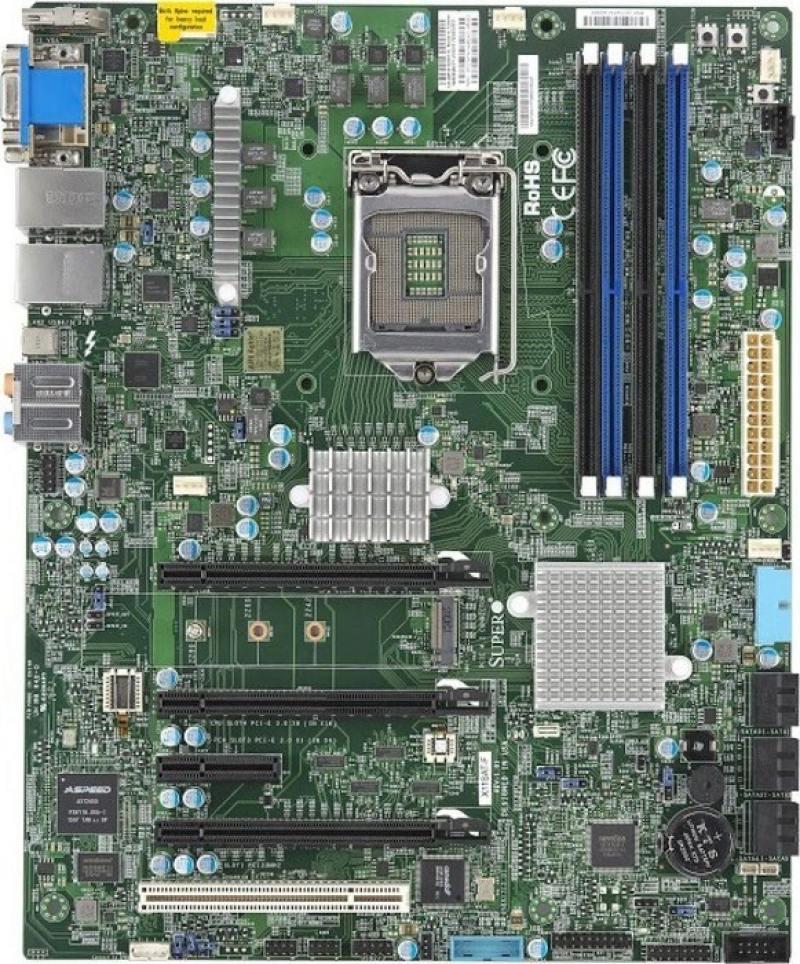 Маn плата Supermicro MBD-X11SAT-F-O Socket 1151 C236 4xDDR4 2xPCI-E 16x 2xPCI 2xPCI-E 1x 8xS мат плата для пк asus e3 pro gaming v5 socket 1151 c232 4xddr4 2xpci e 16x 2xpci 2xpci e 1x 6xsataiii atx retail