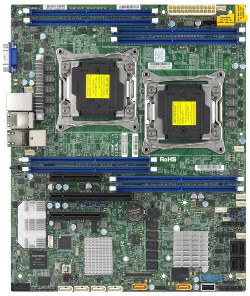 Мат плата Supermicro MBD-X10DRL-IT-O 2 х Socket 2011-3 C612 8xDDR4 1xPCI-E 16x 2xPCI-E 8x 6x