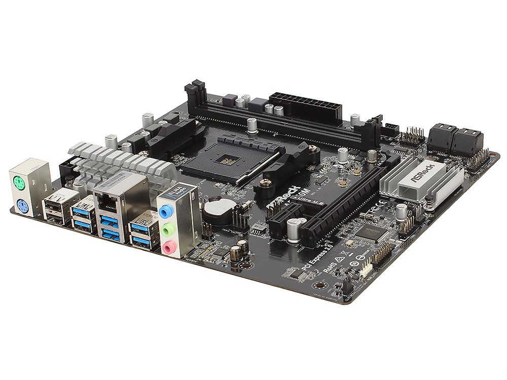 Материнская плата ASRock AB350M (SAM4, AMD B350, 2*DDR4, PCI-E16x, PCI-E1x, SATAIII+RAID, M.2, GB Lan, USB3.0, mATX, Retail) 3d magic набор для творчества 3d magic 3d spinner для создания объемных фигурок