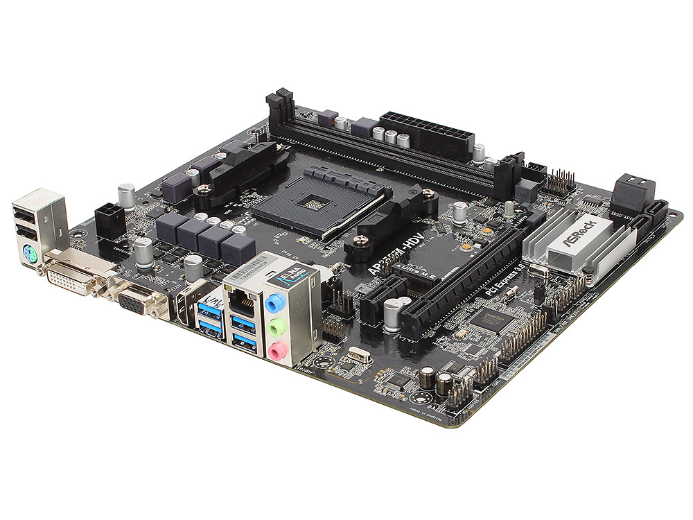 Материнская плата ASRock AB350M-HDV (SAM4, AMD B350, 2*DDR4, PCI-E16x, PCI-E1x, D-SUB, DVI, HDMI, SATAIII+RAID, M.2, GB Lan, USB3.0, mATX, Retail) 10 pcs d sub vga db 15 pin male solder type connector socket 2 rows db15f male