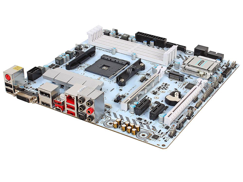 Материнская плата MSI B350M MORTAR ARCTIC (AM4, AMD B350, 4*DDR4, 2*PCI-E16x, HDMI, D-SUB, DP, SATAIII+RAID, M.2, GB Lan, USB 3.1Gen1, mATX, Retail) видеокарта 6144mb msi geforce gtx 1060 gaming x 6g pci e 192bit gddr5 dvi hdmi dp hdcp retail