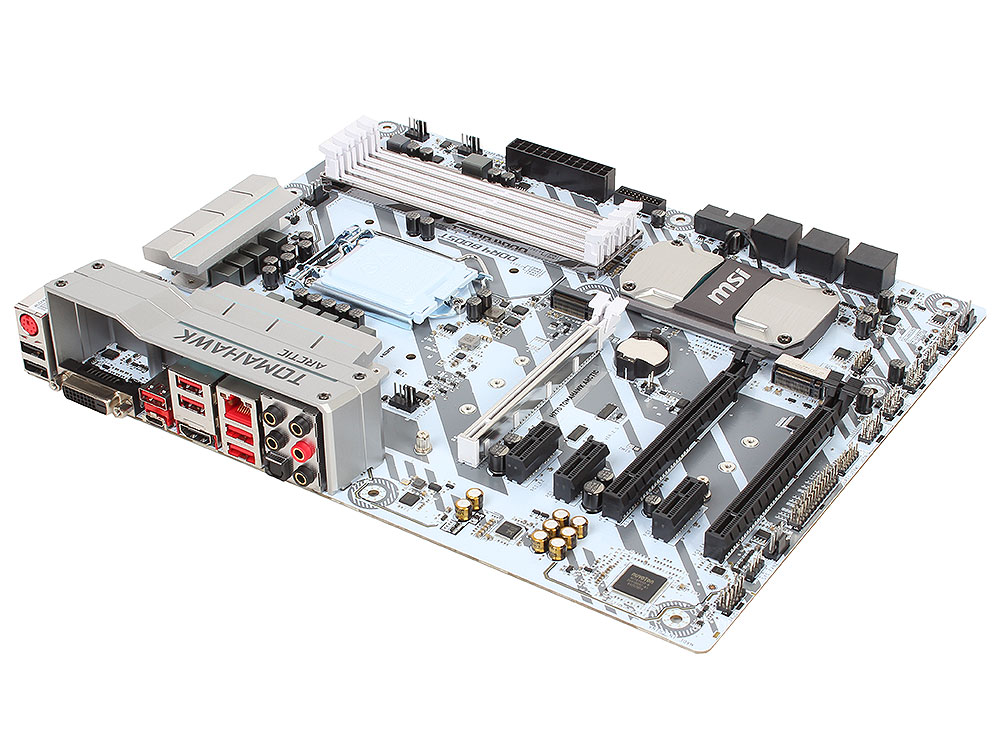 Мат. плата MSI H270 TOMAHAWK ARCTIC (S1151, H270, 4*DDR4, 3*PCI-E16x, HDMI, DVI, SATA III+RAID, M.2, GB Lan, USB3.1Gen2, ATX, Retail)