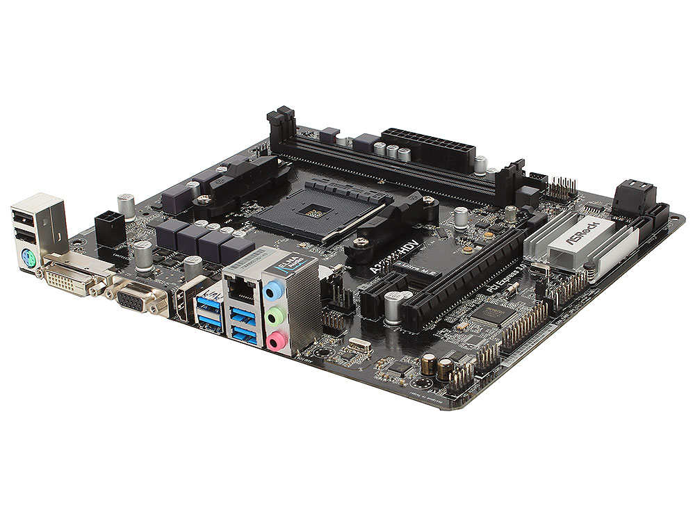 Материнская плата ASRock A320M-HDV (SAM4, AMD A320, 2*DDR4, PCI-E16x, D-SUB, DVI, HDMI, SATAIII+RAID, M.2, GB Lan, USB3.0, mATX, Retail) 10 pcs d sub vga db 15 pin male solder type connector socket 2 rows db15f male