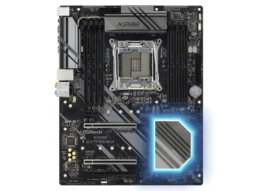 Мат. плата ASRock X299 EXTREME4 (LGA2066, iX299, 8*DDR4, 3*PCI-E16x, PCI-E1x, SATA III+RAID, M.2, USB 3.1, GB Lan, ATX, Retail) max 700w psu atx 12v gaming pc power supply 24pin pci sata atx 700 walt 12cm fan new computer for btc