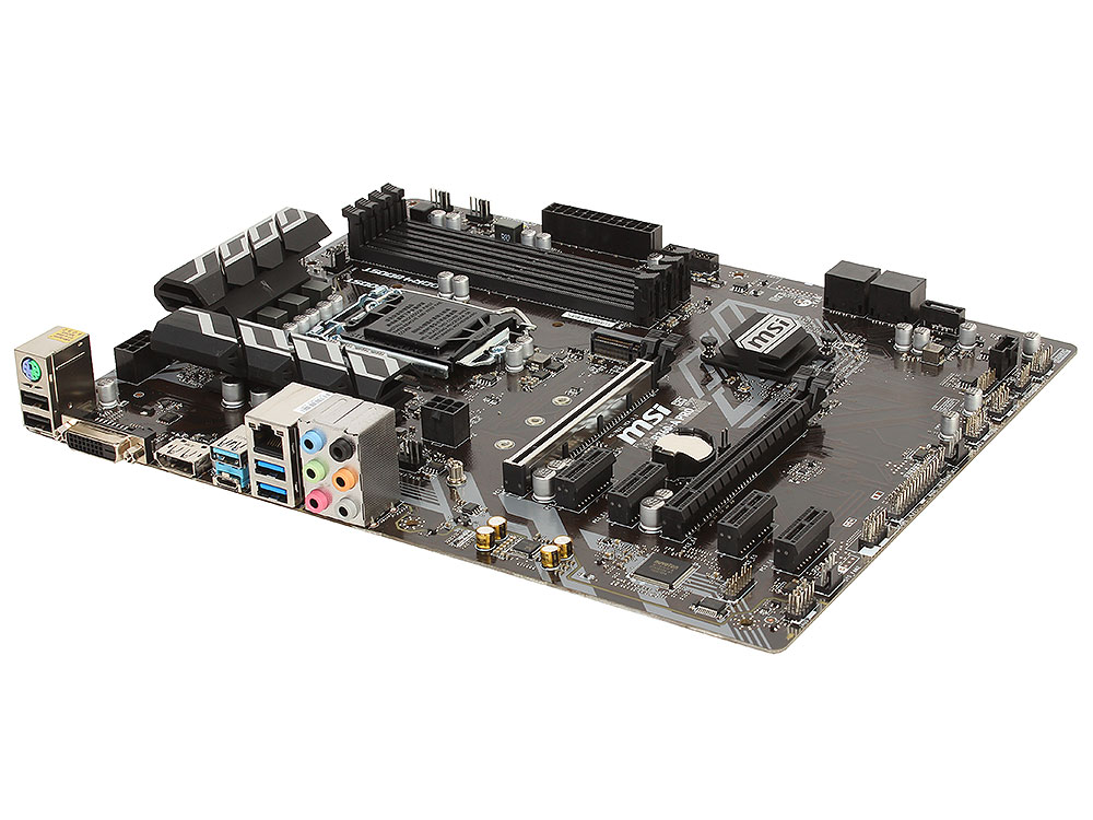 Материнская плата MSI B360-A PRO (S1151, iB360, 4*DDR4, 2*PCI-E16x, 4*PCI-E4x, DVI, DP, SATAIII, M.2, GB Lan, USB3.1, ATX, Retail)