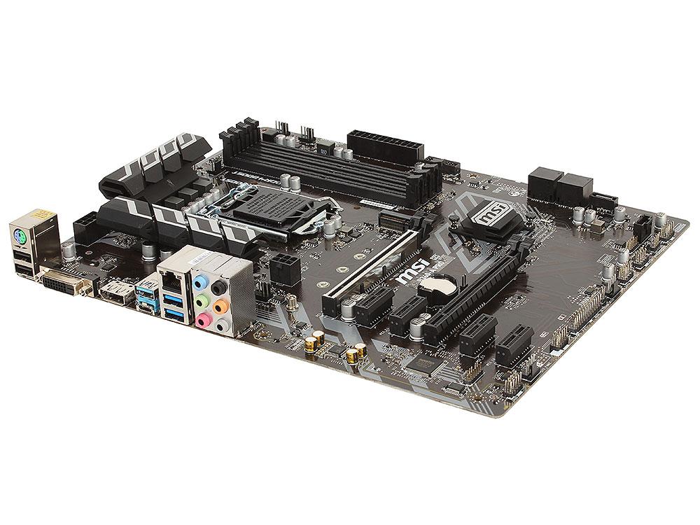 Материнская плата MSI B360-A PRO (S1151, iB360, 4*DDR4, 2*PCI-E16x, 4*PCI-E4x, DVI, DP, SATAIII, M.2, GB Lan, USB3.1, ATX, Retail) fiscal end aluminum fanless embedded computer with i3 3217u 6com 4g ram onboard 2 intel lan support wake on lan dual 24bit lvds