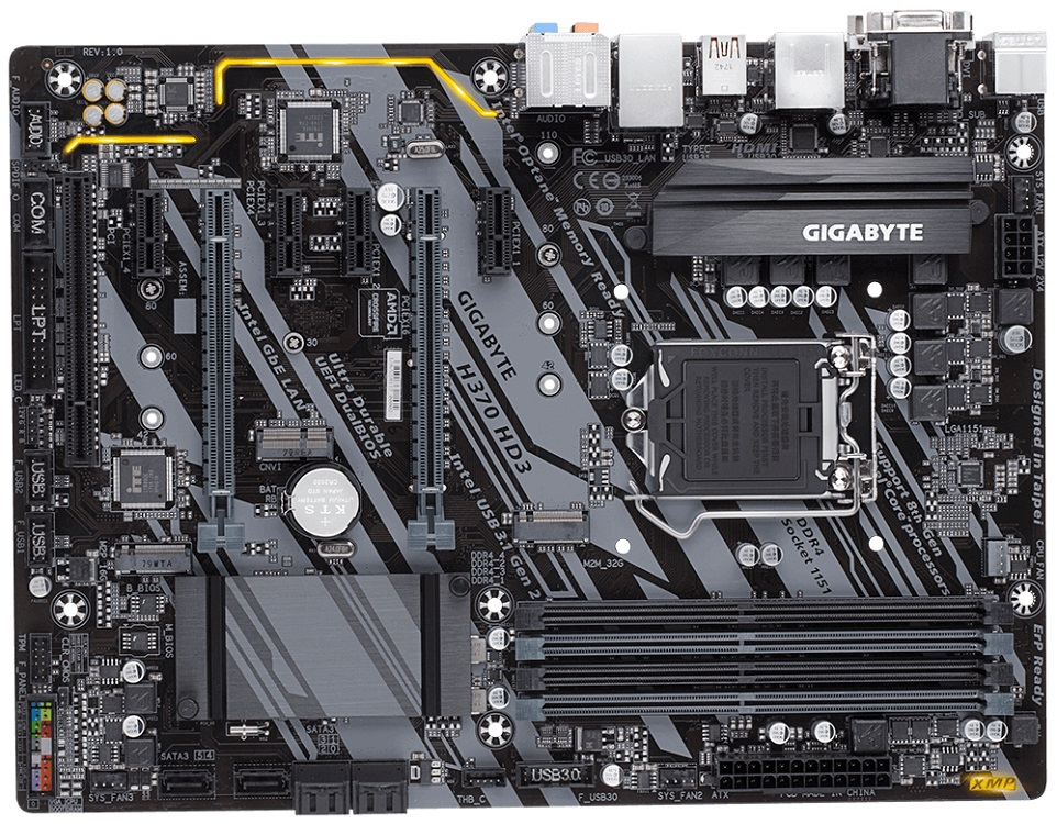 Материнская плата GIGABYTE H370 HD3 (S1151, H370, 4xDDR4, 2xPCI-Ex16, 4xPCI-Ex1, PCI, D-Sub, DVI, HDMI, SATA III+RAID, M.2, GB Lan, USB 3.1, ATX, Retail) striped long sleeve dress with belt