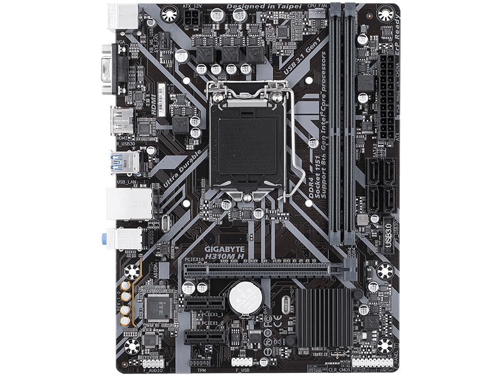 Материнская плата GIGABYTE H310M H (S1151, H310, 2xDDR4, PCI-Ex16, 2xPCI-Ex1, D-Sub, HDMI, SATA III, GB Lan, USB3.1, mATX, Retail) звуковая карта asus xonar dx pci ex1