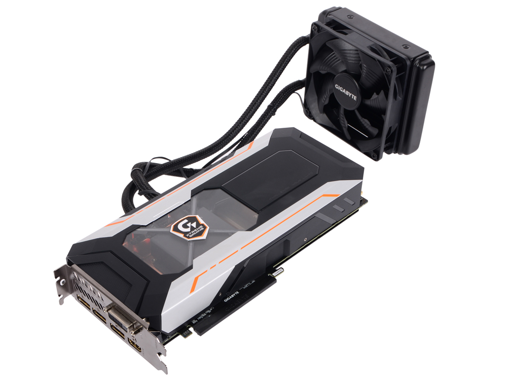 Видеокарта 8Gb GIGABYTE GTX 1080 Xtreme Gaming Water cooling GV-N1080XTREME W-8GD