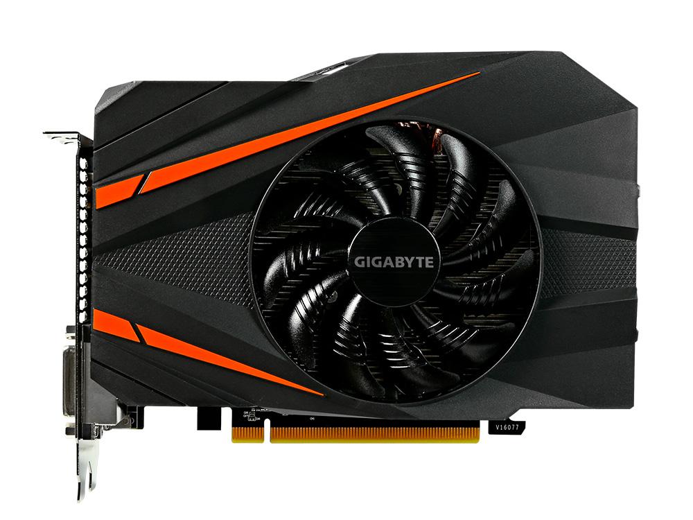 Видеокарта 6Gb GIGABYTE GeForce GTX 1060 Mini ITX OC 6G GV-N1060IXOC-6GD