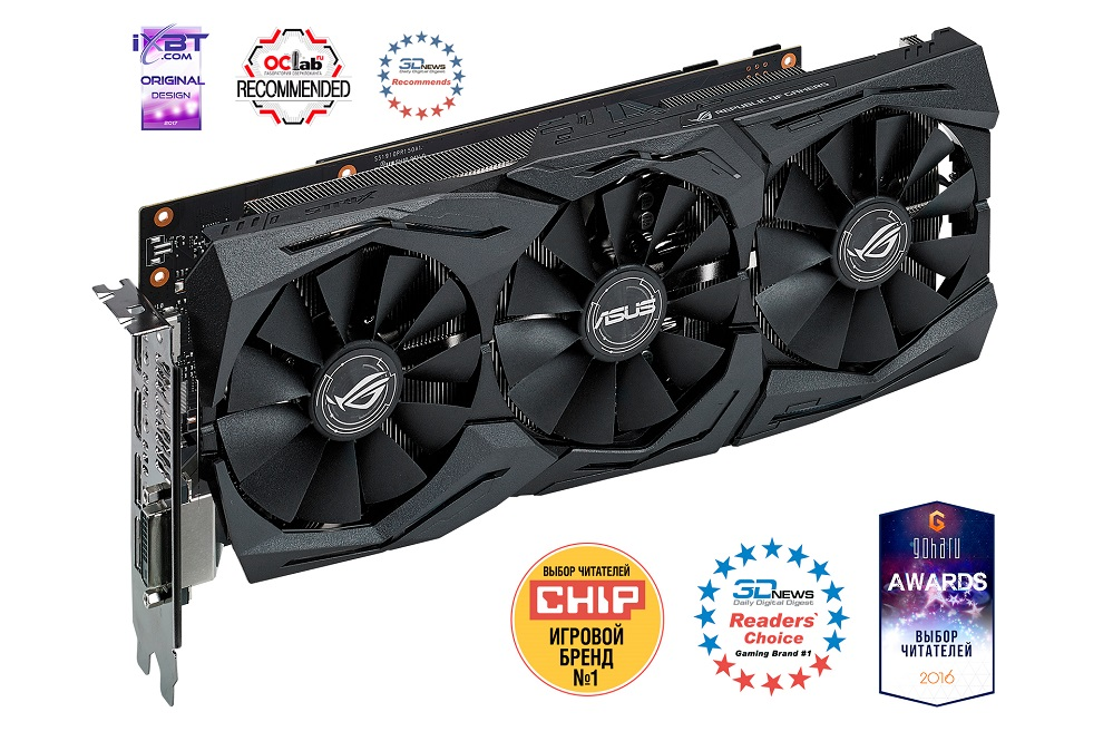 Видеокарта 6Gb ASUS STRIX-GTX1060-O6G-GAMING