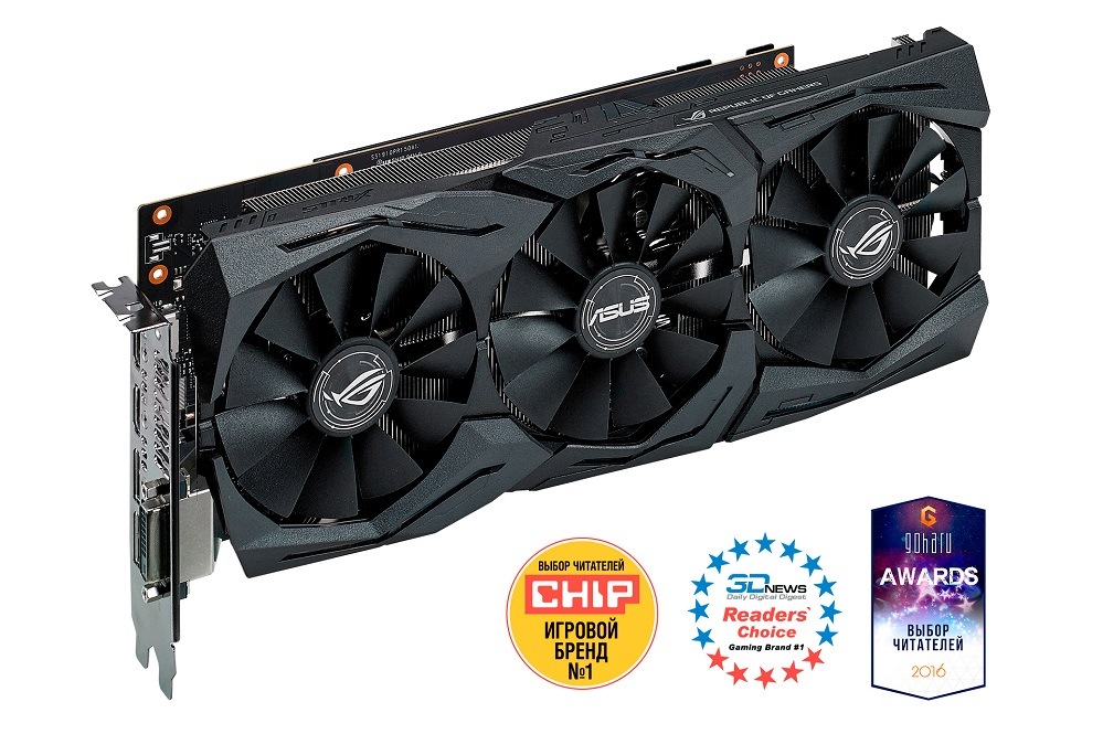 STRIX-GTX1060-6G-GAMING видеокарта 6144mb msi geforce gtx 1060 gaming x 6g pci e 192bit gddr5 dvi hdmi dp hdcp retail