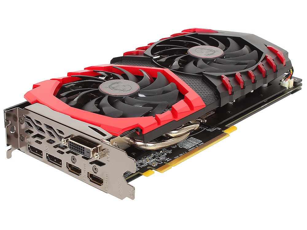 Видеокарта 4Gb (PCI-E) MSI Radeon RX 480 GAMING X 4G (RX 480, GDDR5, 256 bit, HDCP, 2*HDMI, 2*DP, DVI, Retail)