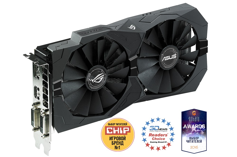 Видеокарта 4Gb ASUS STRIX-RX460-4G-GAMING